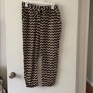 Chevron flowy pants